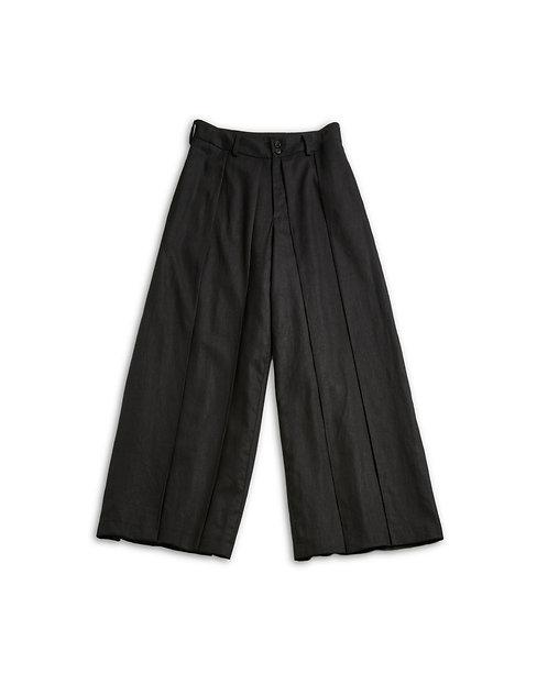 Linen Hakama Pants Black