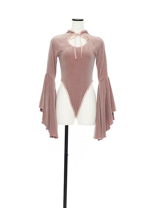 Velour bodysuit Pink