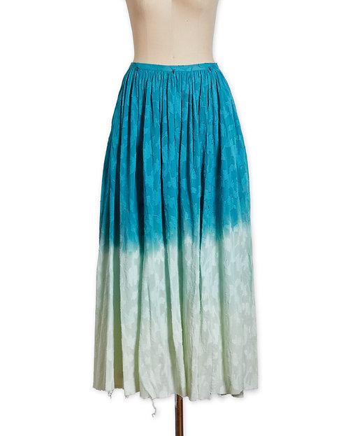 Gradation cotton skirt Green