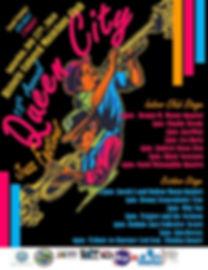 lineup card Queen City 2019 Poster Versi