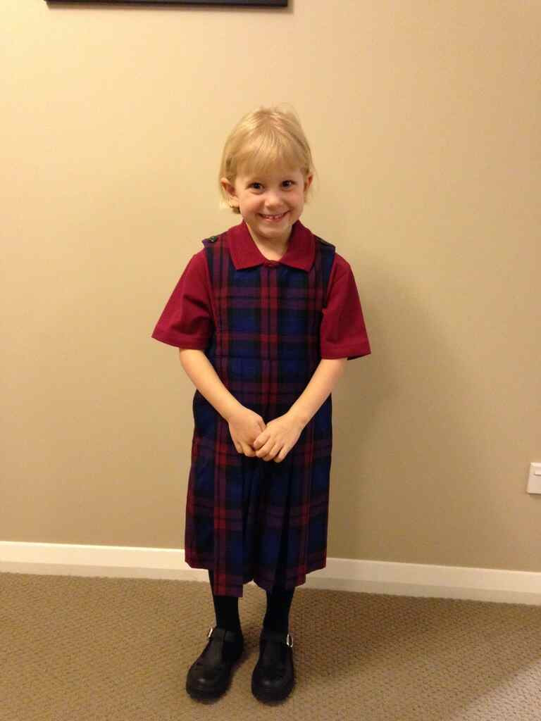 Isabelle looking gorgeous in her brand new school uniform!