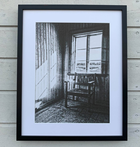 This artwork found it´s new home :) the motif is from the room i exhibit in right now at Kvarnkonst.
