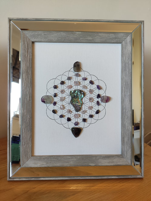 'Uruz' framed crystal grid