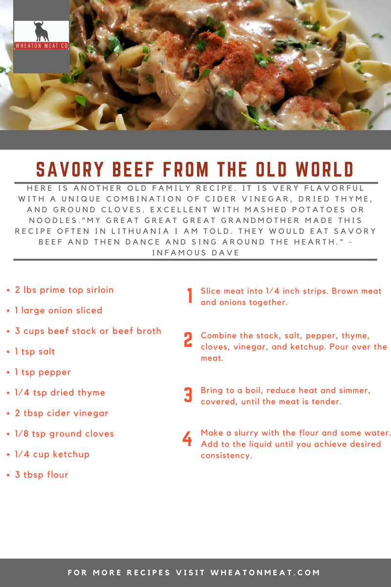 wmc recipe SAVORY BEEF FROM THE OLD WORL