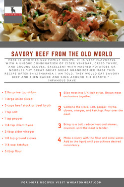 SAVORY BEEF FROM THE OLD WORLD