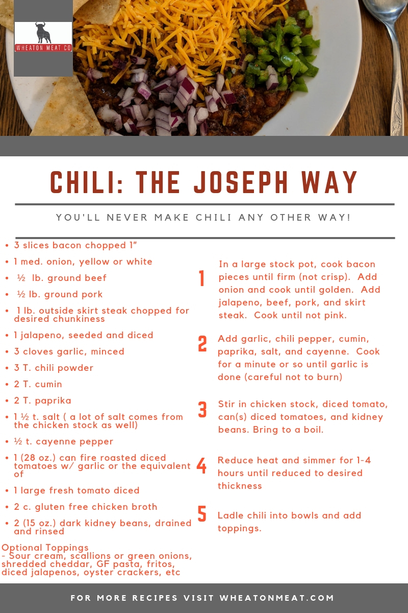 Chili: The Joseph Way