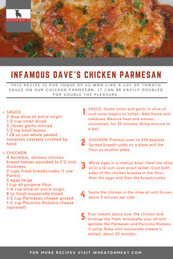 wmc recipe INFAMOUS DAVE'S CHICKEN PARME