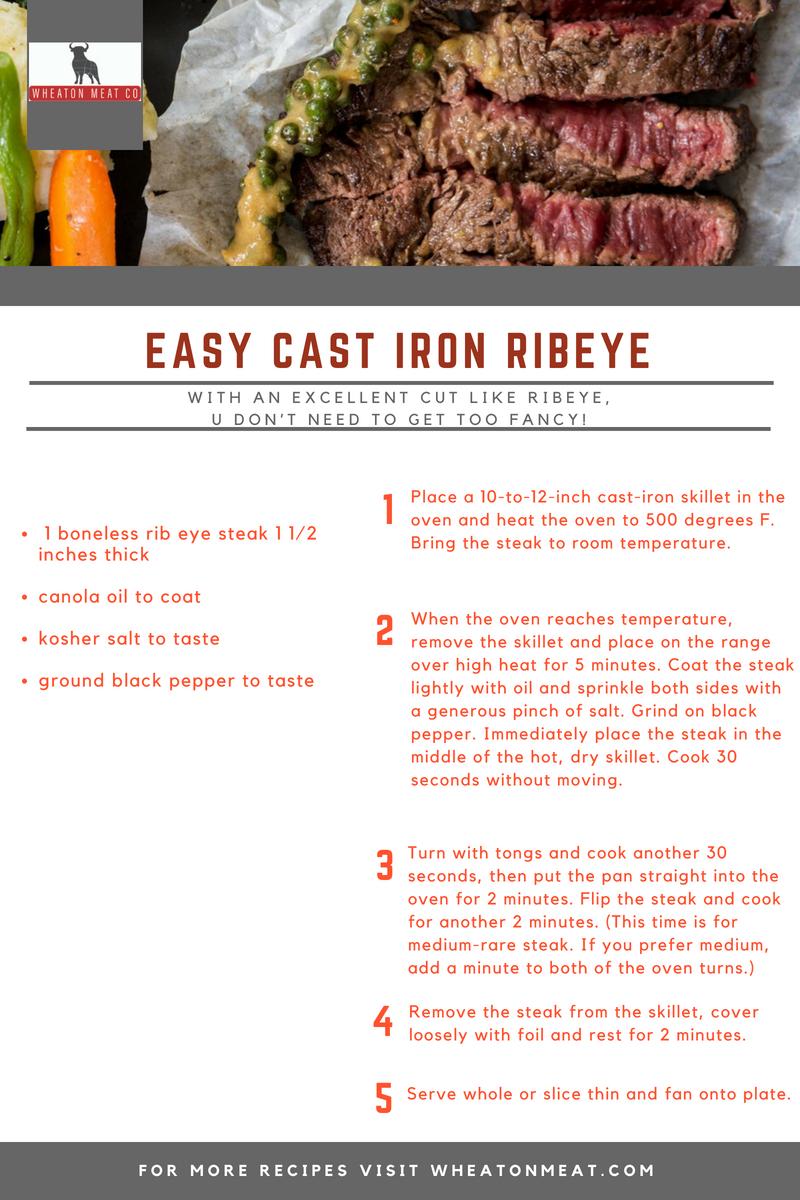 Cast iron ribeye
