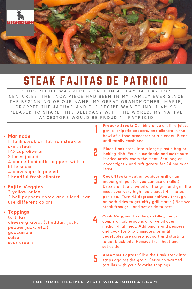 wmc recipe STEAK FAJITAS DE PATRICIO