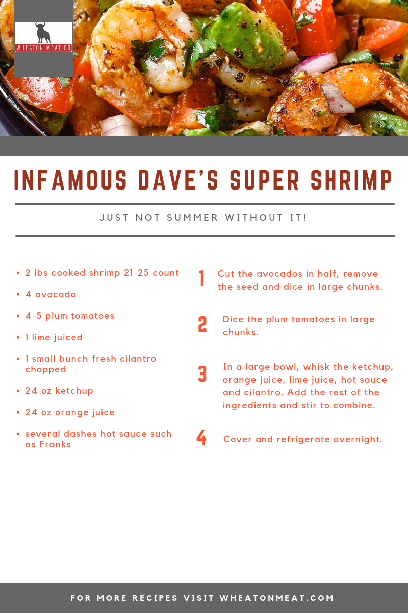 INFAMOUS DAVE'S SUPER SHRIMP