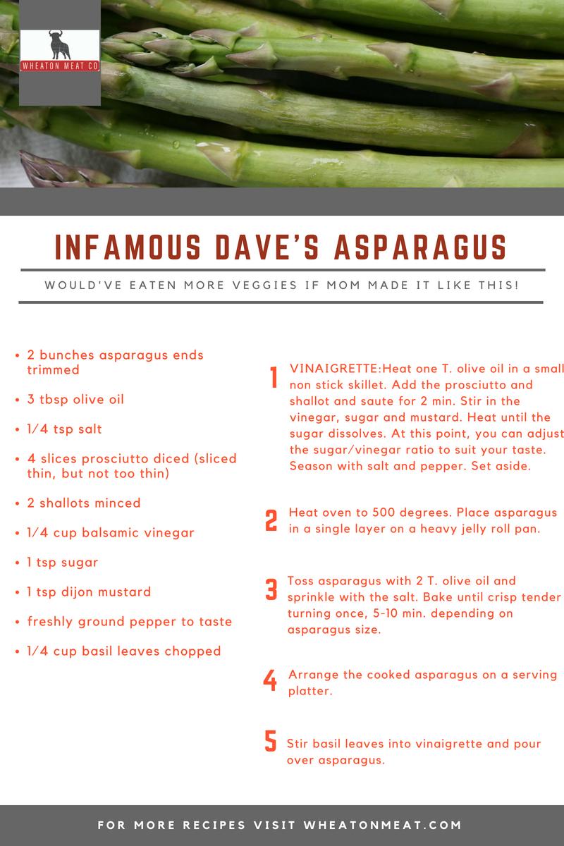 INFAMOUS DAVE'S ASPARAGUS