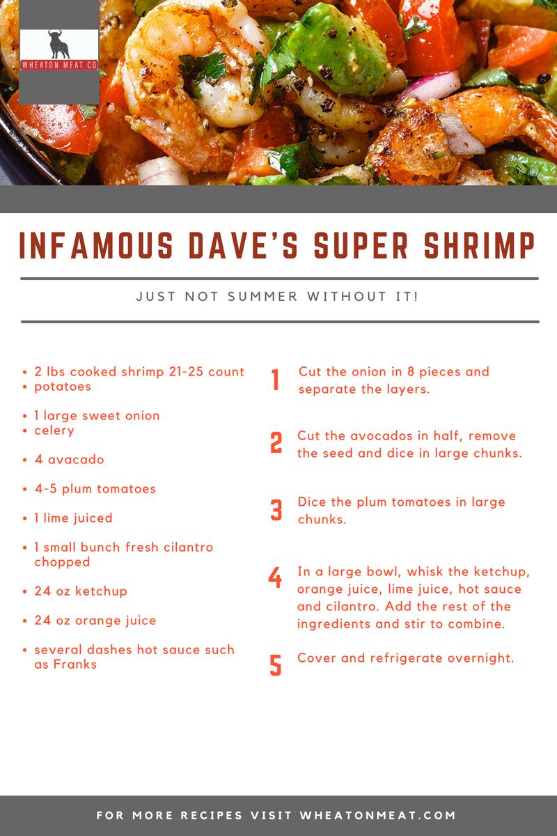 INFAMOUS DAVE'S SUPER SHRIMP.