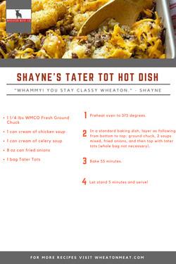 SHAYNE'S TATER TOT HOT DISH