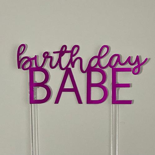 Birthday Babe Cake topper