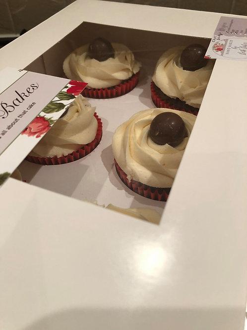 6 Chocolate Baileys Flavoured Cupcakes