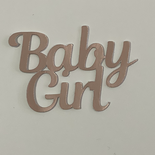 Baby Girl Words Cupcake topper