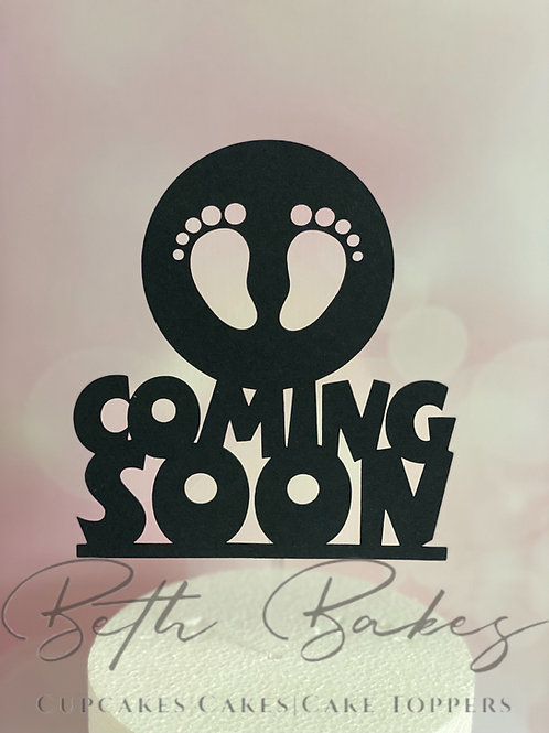 Coming Soon Silhouette Cake Topper