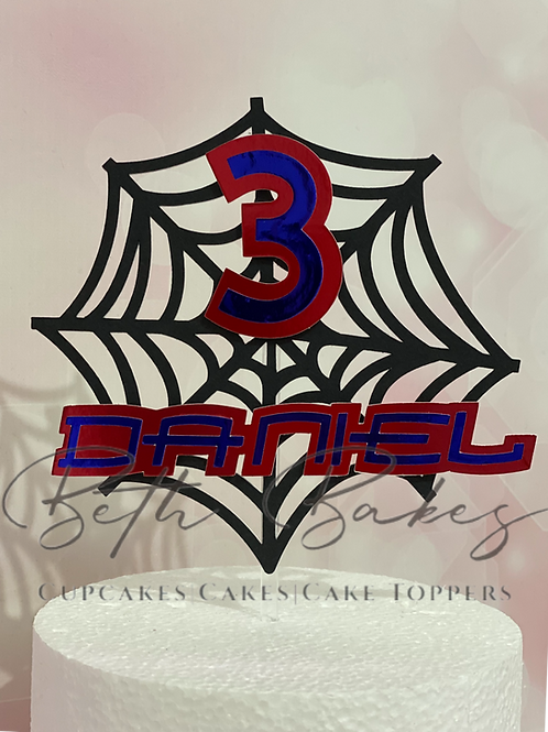 Personalised Spider Web Cake Topper