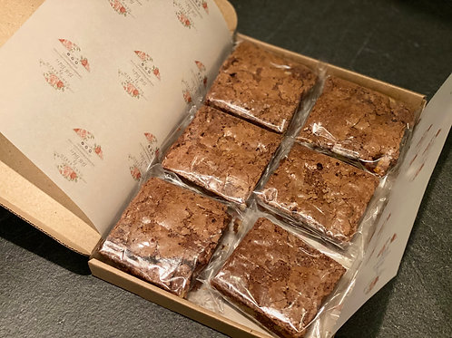 6 Chocolate Brownies - Postal