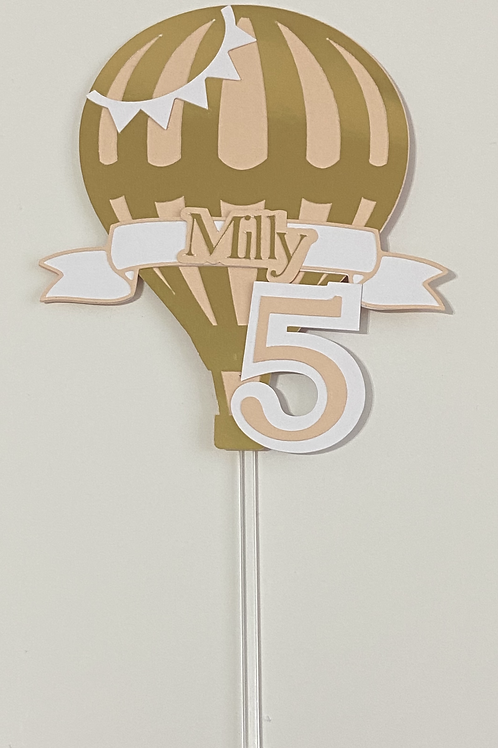Personalised Hot Air Balloon Cake Topper