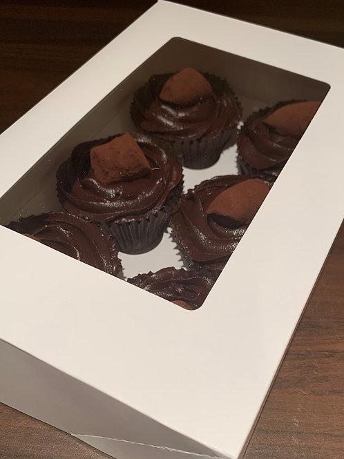 6 Chocolate Truffle Cupcakes