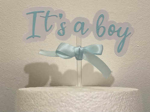It's a... bow cake topper