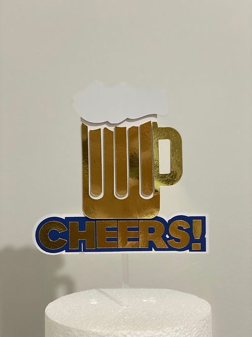 Cheers & Beer Cake topper