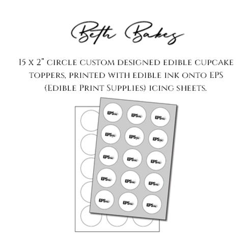 Custom Designed Edible Cupcake Toppers
