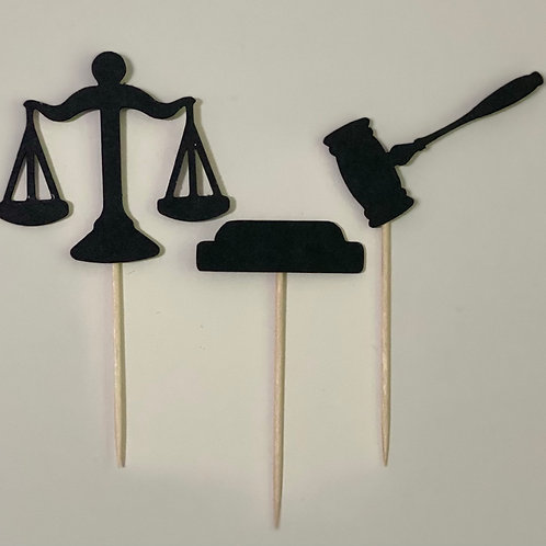 3 Lawyer Cupcake toppers