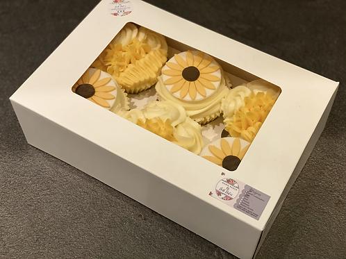 6 Sunflower Cupcakes