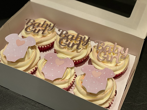 6 Baby Shower Cupcakes
