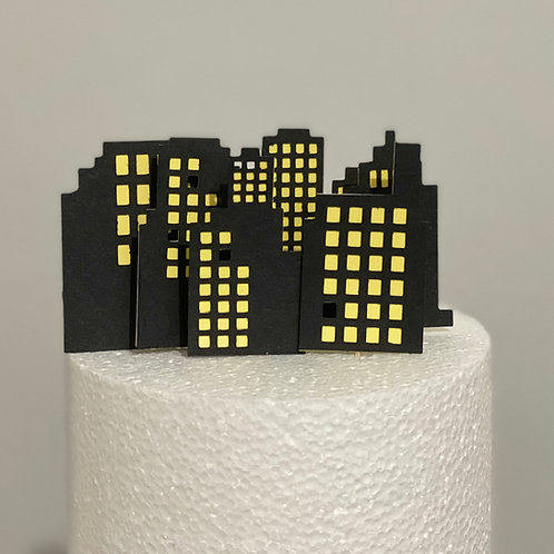 6 City/Skyscraper Cake topper