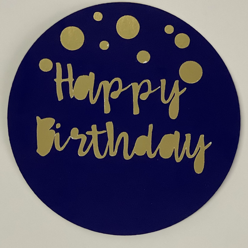 Happy Birthday Two-colour Cake Topper