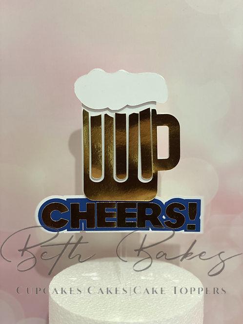 Cheers & Beer Cake topper