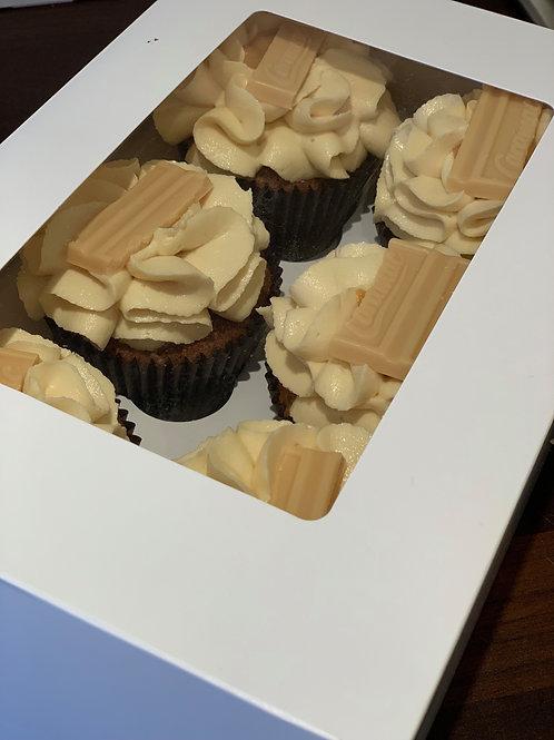 6 Caramac Cupcakes