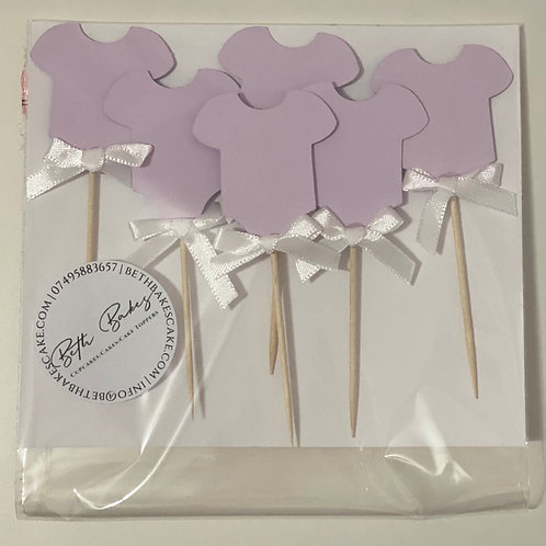 Onesie Baby Shower Cupcake toppers