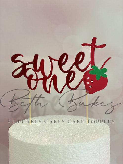 Sweet One Cake Topper
