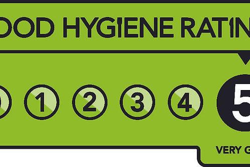 5* Hygiene Rating Sticker sheet