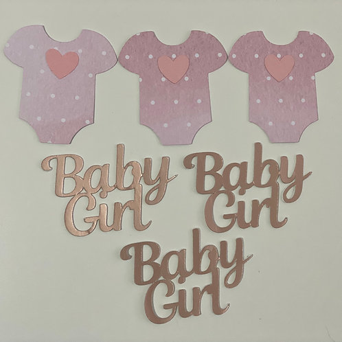 Baby Girl Cupcake Toppers x 6
