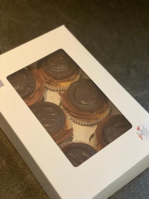 6 Jaffa Cake Cupcakes