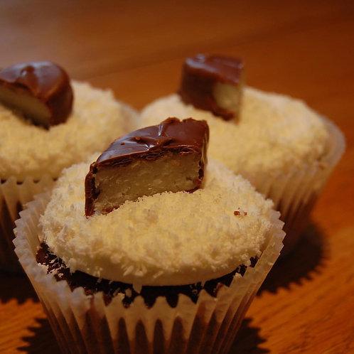 6 Bounty Cupcakes