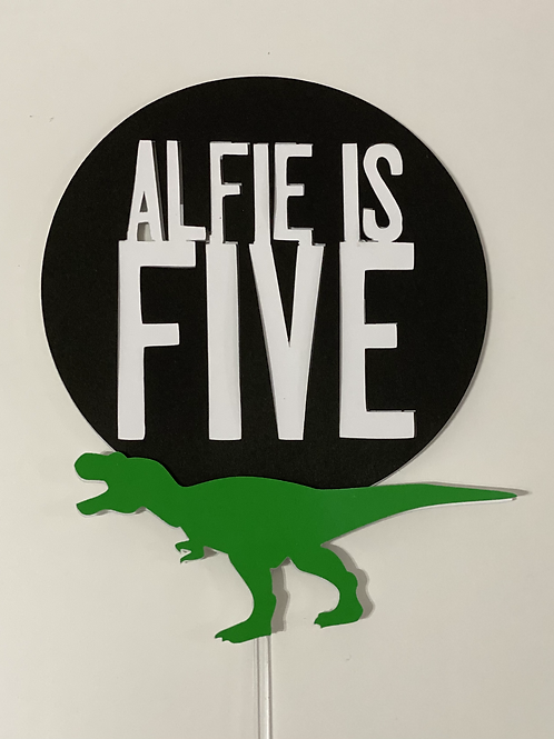Personalised T-Rex Statement Cake Topper