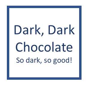 Dark, Dark Chocolate IC