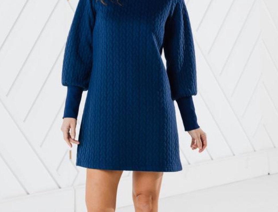 Navy Sweatshirt Dress