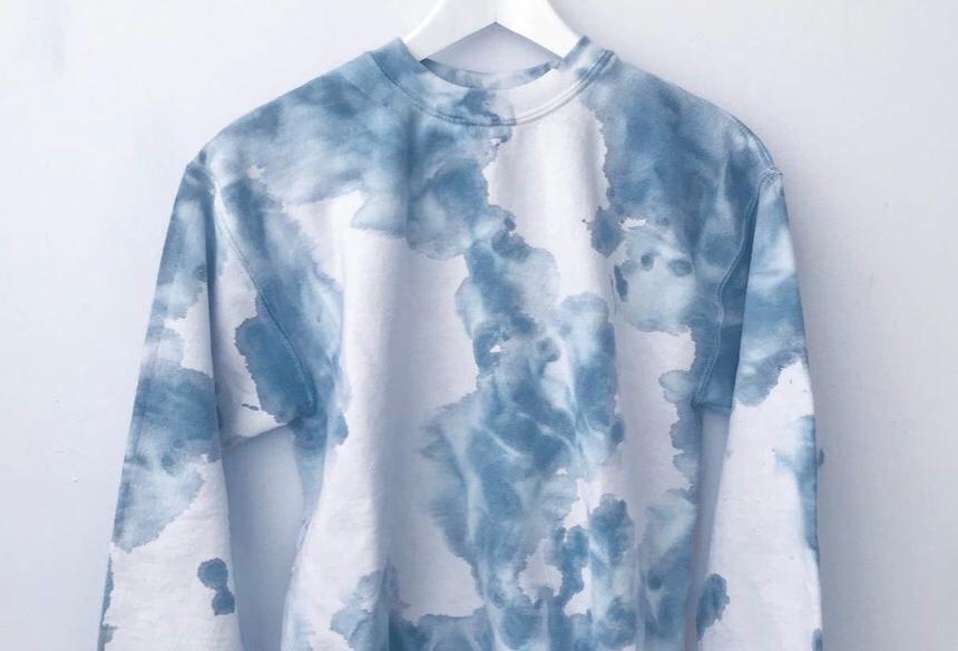 Tie Dye Blue Sweatshirt