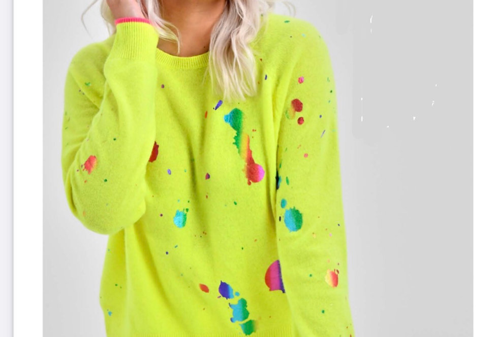 Paint Splatter Washable Cashmere