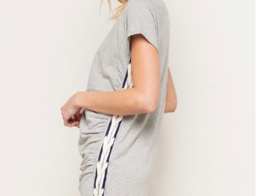 Grey Dress with rope detail