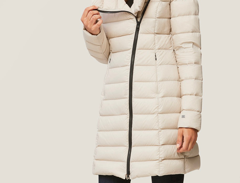 Ivory Puffer Coat