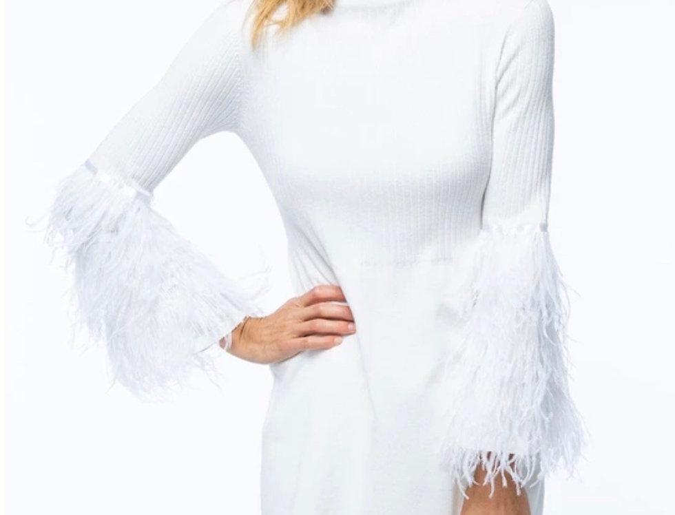 Ribbed Pearl Feather Tunic