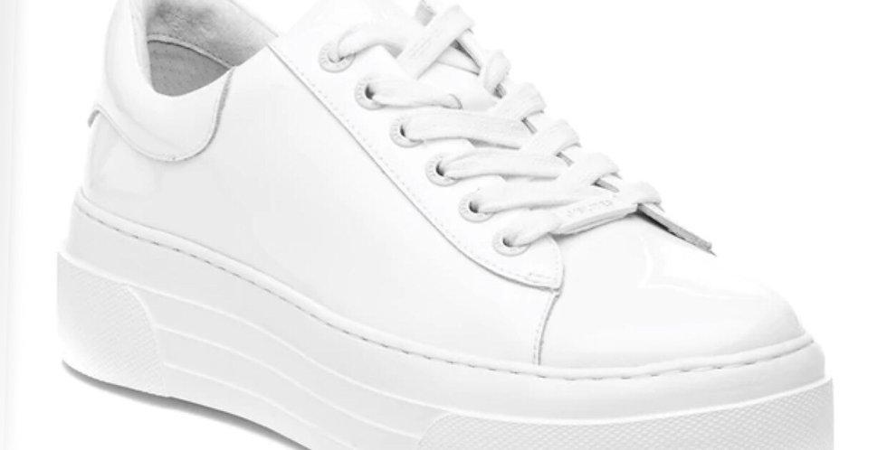 Platform White Leather Sneaker